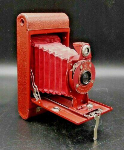Kodak Rainbow Hawkeye Folding No 2 Model B - Red