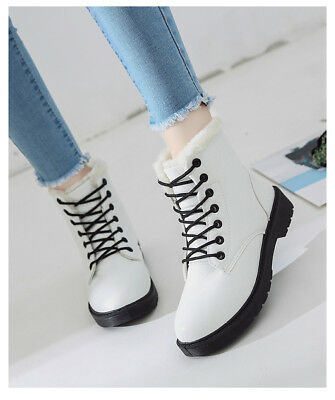 2018    Pu Leather Lace-up Women Ankle Winter Snow Boots ()