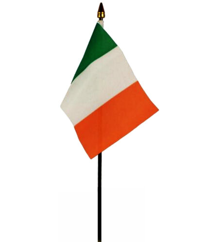 REPUBLIC OF IRELAND flag PACK OF TEN SMALL HAND WAVING FLAGS EIRE Irish