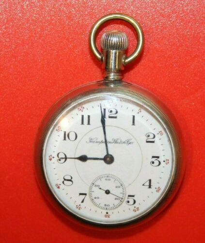 Hampden Pocket Watch President William McKinley Signed 1912 16s 17j - Working