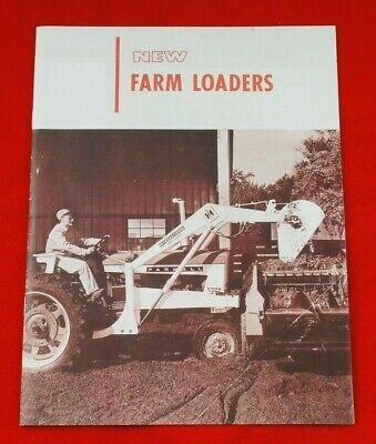 Ih International Farm Loaders For Farmall Tractors Brochure Cub 460 560 504 706