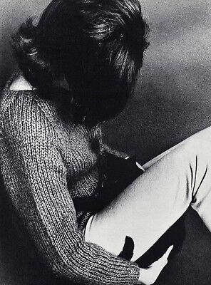 1960s Vintage FEMALE FASHION Cat Feline Hair Woman 11x14 Photo Art WINGATE PAINE