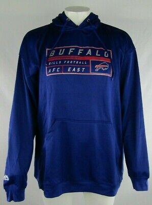 Buffalo Bills NFL Majestic Big and Tall Blue Pullover Hood Screen Print 4XT-5XT