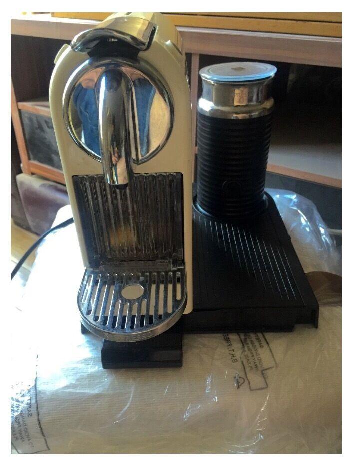 Nespresso CitiZ & Milk Frother by Magimix Coffee Machine - Cream ...