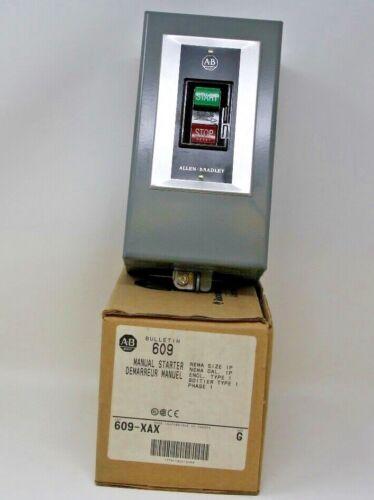 Allen Bradley 609-XAX G Manual Starting Switch Push Button 1 Phase New In Box