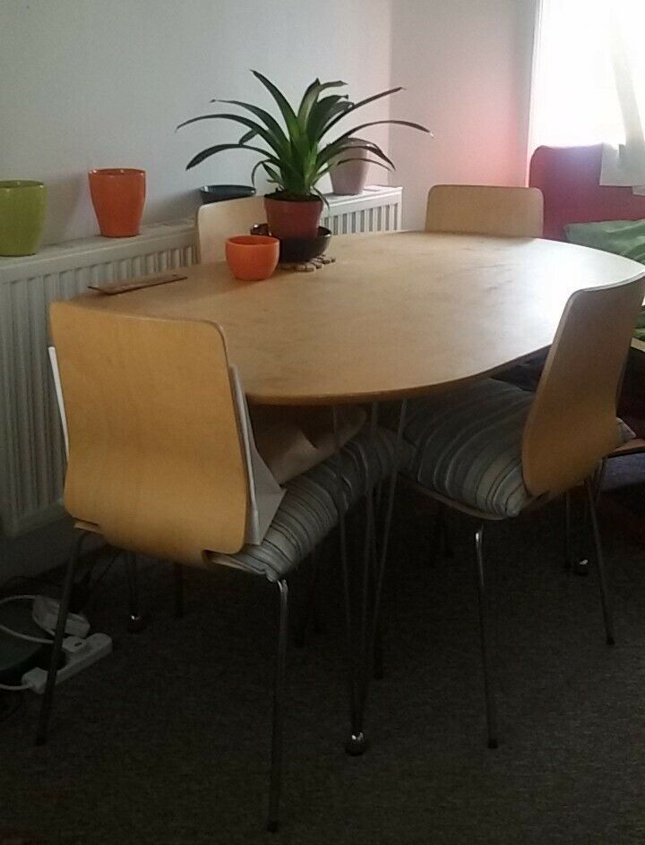 Dining Table And 3 Ikea Gilbert Chair In Clapham Junction London