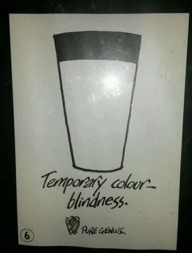 Guinness Beer Advertising Poster New In Tube Temporary Colour Blindness