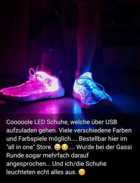 purchase cheap 10cb7 a620b Led Schuhe
