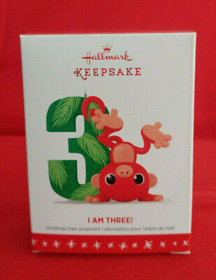 HALLMARK I AM THREE Child's 3RD Christmas Ornament MIB ()