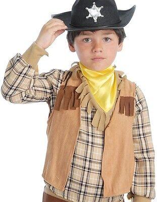 per bambini e ragazzi COWBOY INDIANO Gilet COSTUME VESTITO accessorio