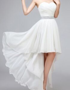 Beautiful high low white dress size 16/18 or XL