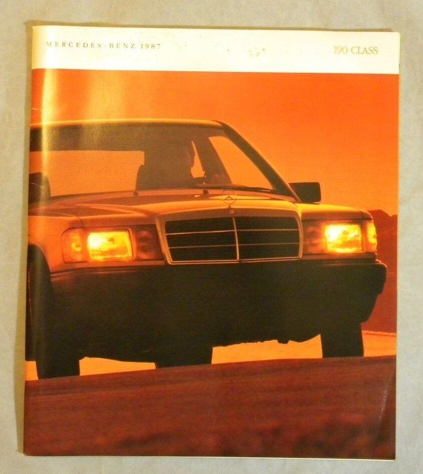 1987 Mercedes Benz 190 Class 64-page Sales Brochure - 190E,190D,190E  W/ Inserts