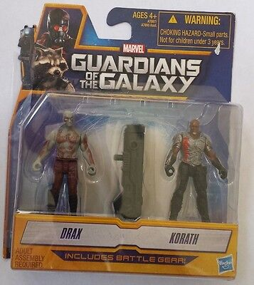 Guardians of the Galaxy ~ Drax & Korath ~ Action Figures ~ Battle Gear (Drax Guardians Of The Galaxy)