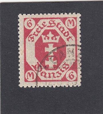 Danzig Mi.Nr. 109 b gestempelt geprüft BPP Mi.Wert 200€ (1107)