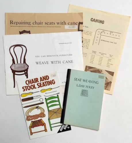 Lot of 5 - Repairing Chair & Stool Seats Caning Weaving Booklets & Leaflets