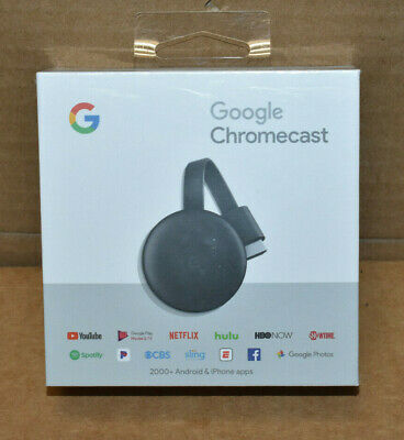 Brand New Google GA00439-US Chromecast 3rd Generation - Factory Sealed