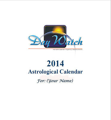 ASTROLOGY 12 MONTH PERSONAL TRANSIT CALENDAR, BIRTH CHART CD EMAIL 20% OFF 2+