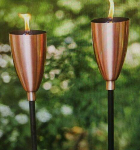 Stylecraft Copper Patio Torch, 2-pack Tiki Torch set ~NEW~
