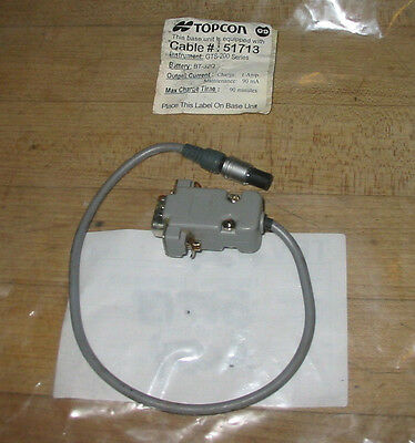 Topcon Gts-200 Series Bt-32q Battery Charging Cable