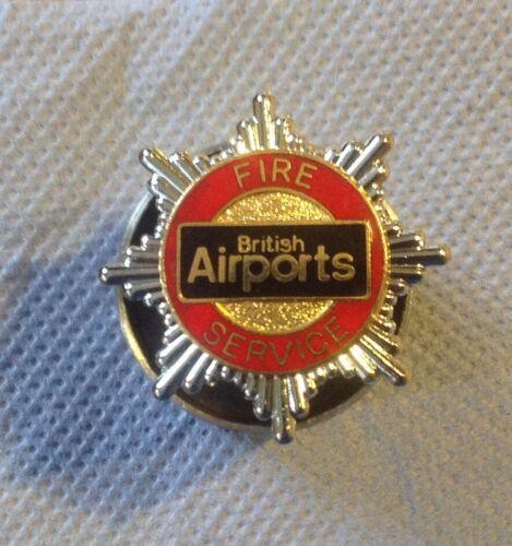 British Airports Fire Service Airport Fire Brigade Cap Badge