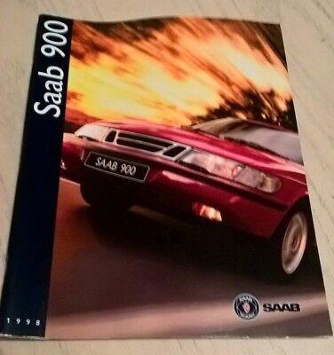 SAAB 900 Car Product Catalogue Brochure 1998   Book  Booklet