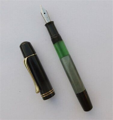 PELIKAN 100 N, FOUNTAIN PEN, GREEN/BLACK, RARE