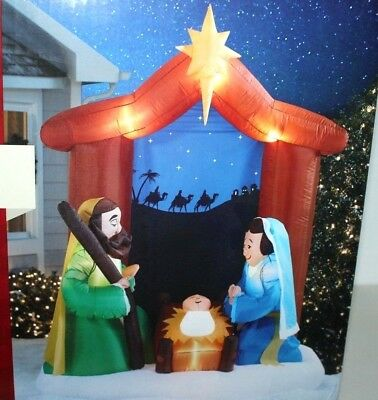 CHRISTMAS INFLATABLE AIRBLOWN 6.5 FT NATIVITY SCENE (Nativity Inflatable)