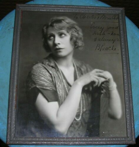 "Blanche Yurka Signed 8"" X 10"" Framed Picture To Her Cousin"