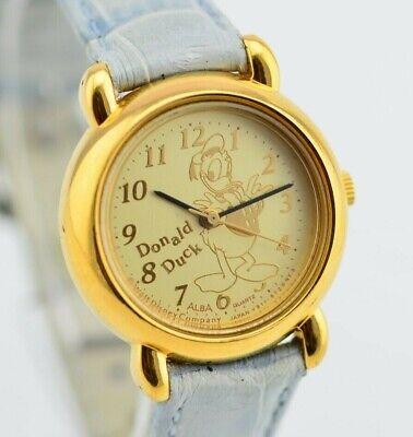 I174 Vintage Alba Disney Donald Duck Quartz Watch V811-0550 Original JDM 50.2