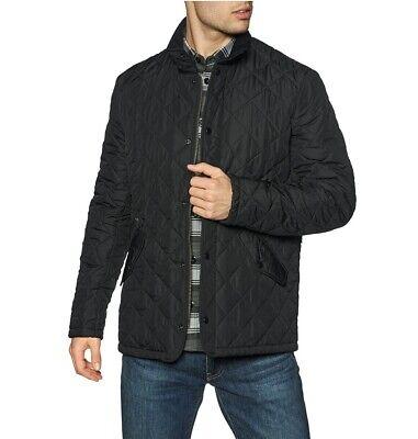 BARBOUR CHELSEA SPORTSQUILT Mens Black Jacket Coat MQU0006BK11 Size XL