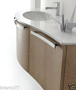Mobile bagno curvo moderno sospeso vari colori ly16 ebay - Mobile bagno curvo ...