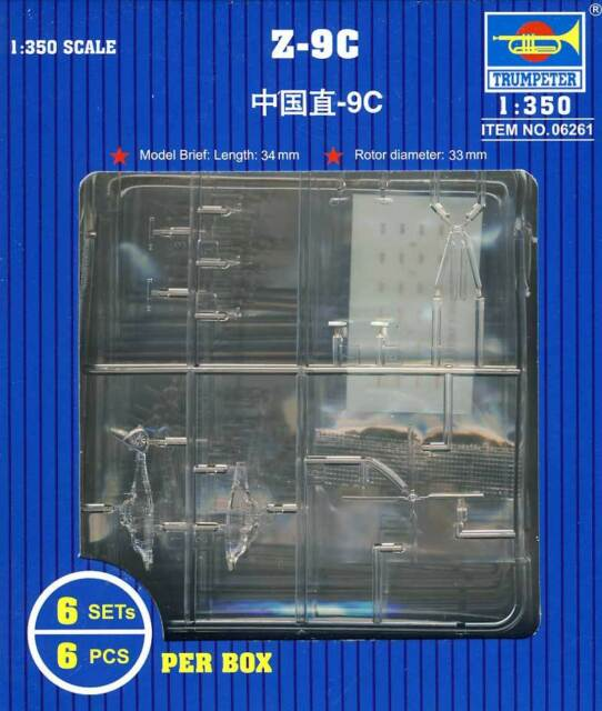 Trumpeter Z-9G Armee Armed Helicopter China clear 1:350 Modell-Bausatz NEU 9 G