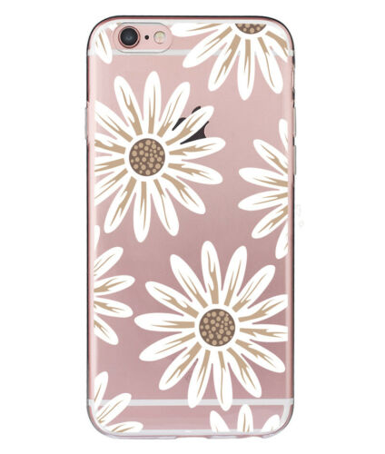 Flower Pattern Soft Silicone TPU Back Case Cover F iPhone 7 6 6s 8 Plus X XS Max