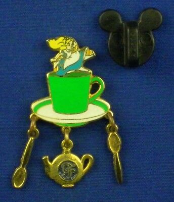 Alice's Tea Party Alice Falling into Green Tea Cup Grand Floridian Dangle # 3195