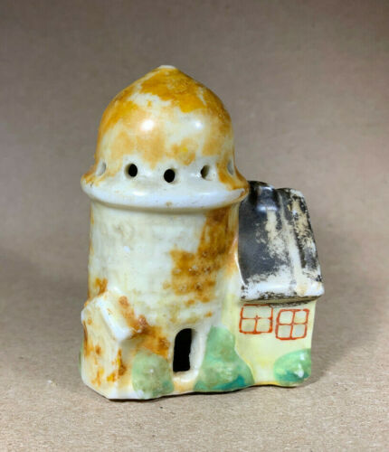 Vintage Miniature Ceramic Farm Silo and Barn Building