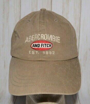 Abercrombie And Fitch EST 1892 Hat Dad Cap Adjustable Leather Strap Vintage