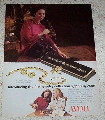 1971 vintage ad page - Avon Precious Pretenders Jewelry pretty lady PRINT ADVERT