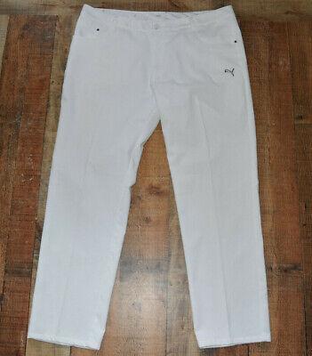 ⛳️ MEN'S PUMA GOLF 5 POCKET TECH PANT Size 40x32 White EUC