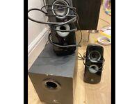 Logitech speakers sound system black