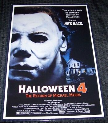 Halloween IV 4 11X17 Movie Poster Original Version George P. - Iv Halloween