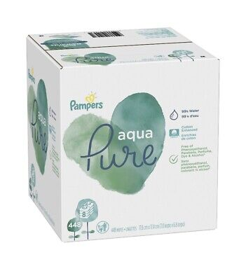 Pampers Aqua 1-Wipe Pop-Top Flip-Top Packs 448 Ct.