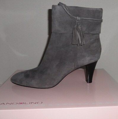 - NEW WOMENS BANDOLINO WILLARIA ANKLE SUEDE FASHION BOOTS GRAY  10 1200317