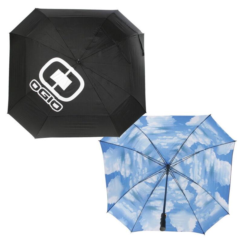 """Ogio Blue Sky Umbrella 72"""" Double Canopy Umbrella - Black/Blue Sky - New 2021"""