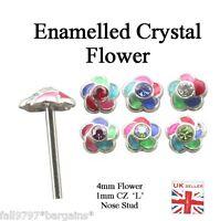 Multi Esmaltado Cristal Plata 925 Pendiente Nariz 24 G(0.5mm) Recto L Flexible -  - ebay.es