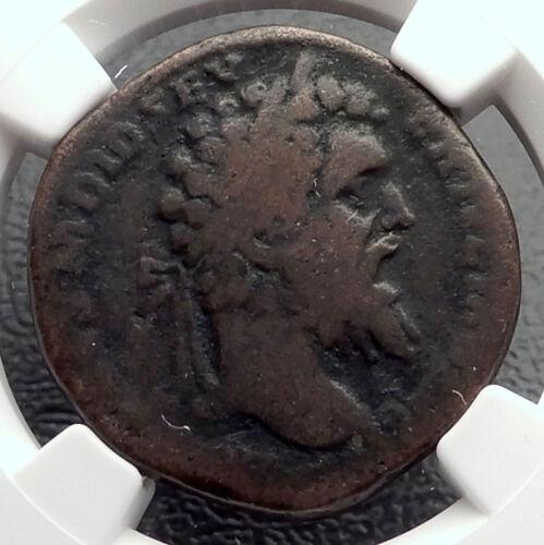 DIDIUS JULIANUS 193AD Sestertius RARE Authentic Ancient Roman Coin NGC VG i61928