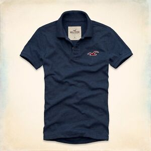 New Hollister by Abercrombie Men's Polo Shirt Size S, M, L, XL
