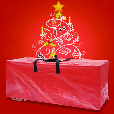 Heavy Duty Large Artificial Christmas Tree Storage Bag For Clean Up Holiday RED
