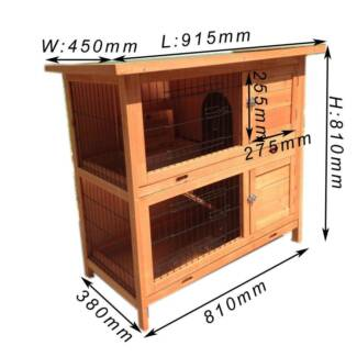 New Double-decker Rabbit Hutch Guinea Pig Cage Ferret Run P035