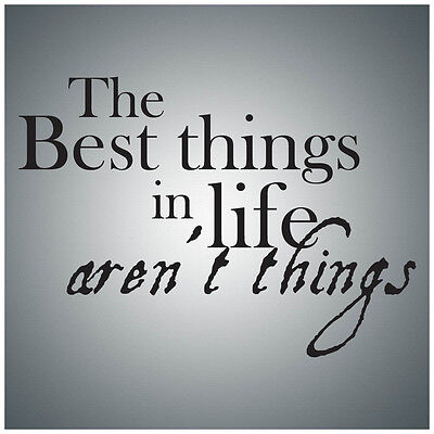 The best things in life aren't...WALL QUOTE DECAL VINYL LETTERING