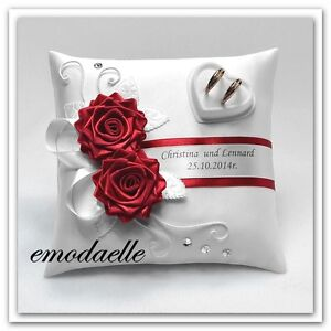 30 ColorPersonalized Wedding Ring Cushion Pillow With Rings Holder Box